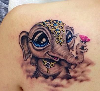 Tatuaggio Tattoo Elefante caricatura