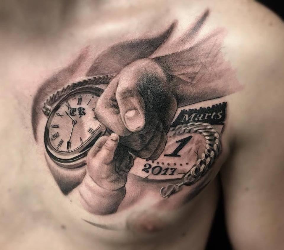 Tatuaggio Tattoo Figli Petto