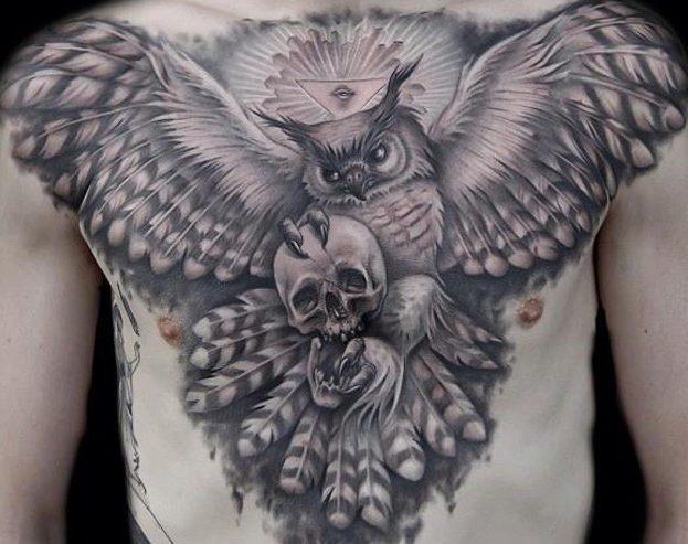 Tatuaggio Tattoo Gufo Morte