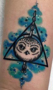 Tatuaggio Tattoo Gufo magia