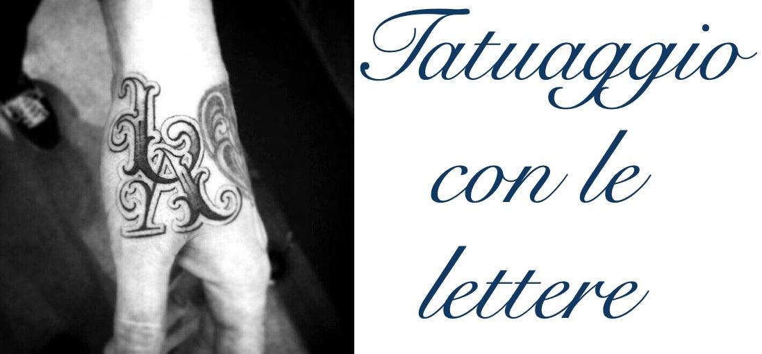Tatuaggio Tattoo Lettere Significato