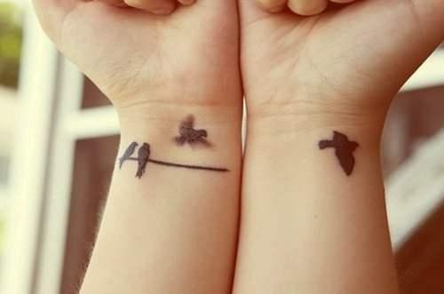Tatuaggio Tattoo Madre Figlia Rondine