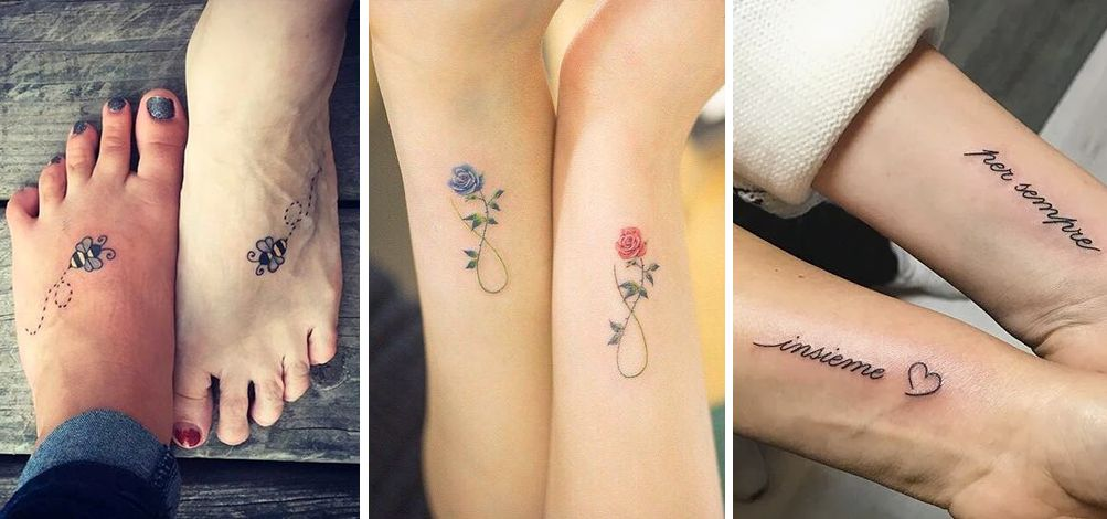 Tatuaggio Tattoo Madre Figlia Complementari