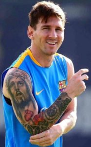 Tatuaggio Tattoo Messi Gesu