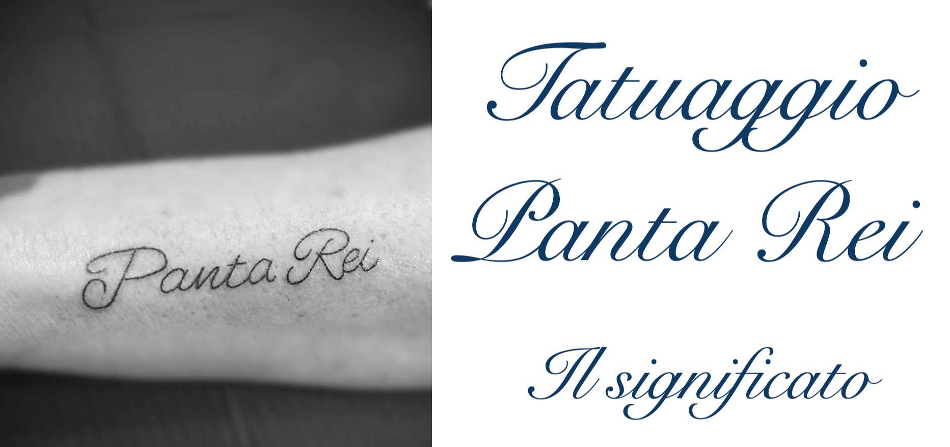 Tatuaggio Tattoo Panta Rei Significato