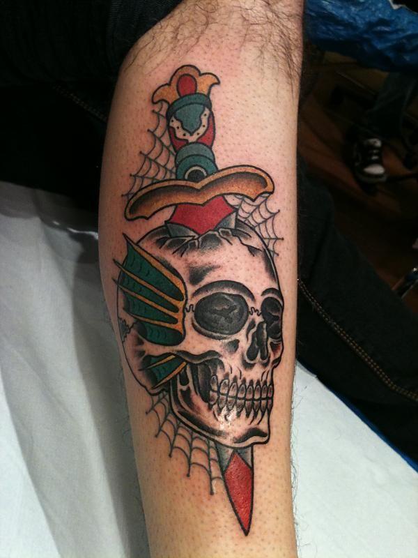 Tatuaggio Tattoo Teschio Spada