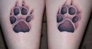 tatuaggio zampa di cane