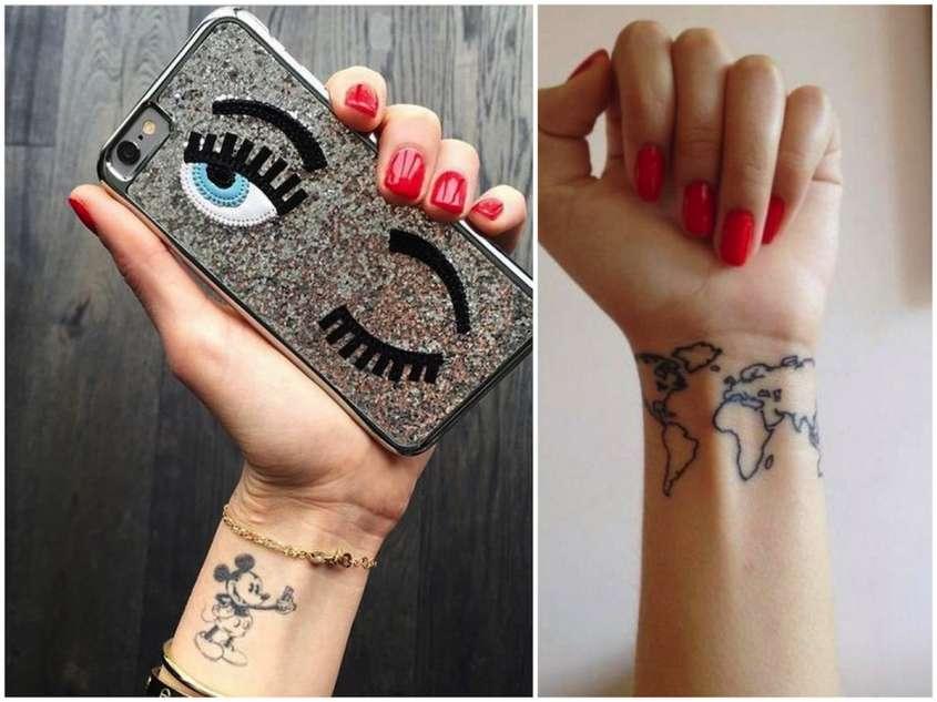 Cartina Mondo Tatuaggio.Tatuaggi Chiara Ferragni Significato Simboli E Tattoo Piu Famosi