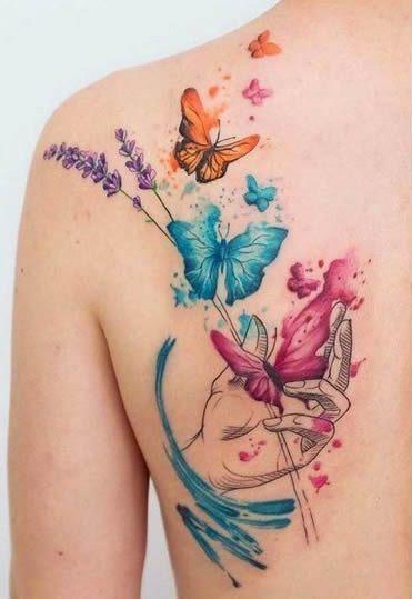 Tatuaggio Tattoo Farfalla scapola