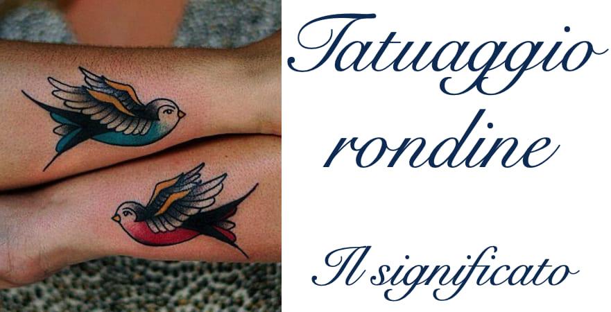 Tatuaggio Tattoo Rondine Significato
