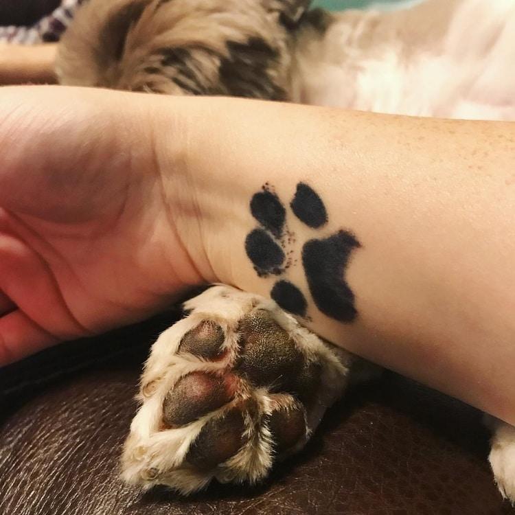 Tatuaggio Tattoo Zampa Cane Amore