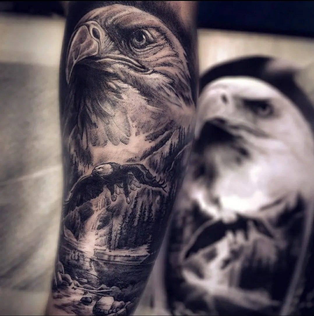 Tatuaggio Tattoo Aquila Primo Piano