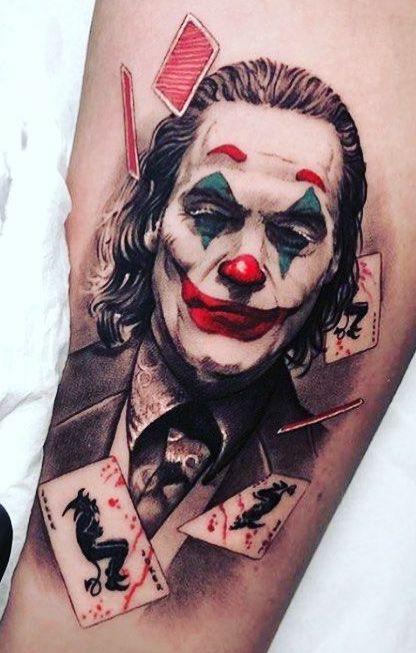 Tatuaggio Tattoo Joker Joaquin Phoenix