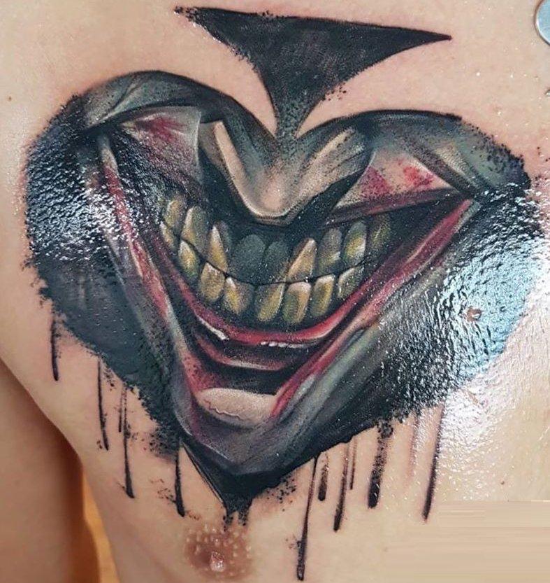 Tatuaggio Tattoo Joker Sorriso