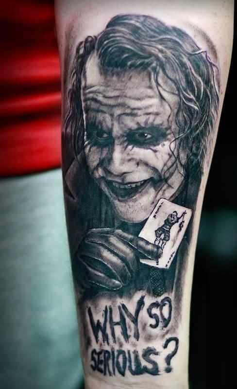 Tatuaggio tattoo Joker bianco e nero