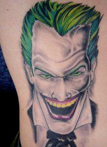 Tatuaggio tattoo Joker colore