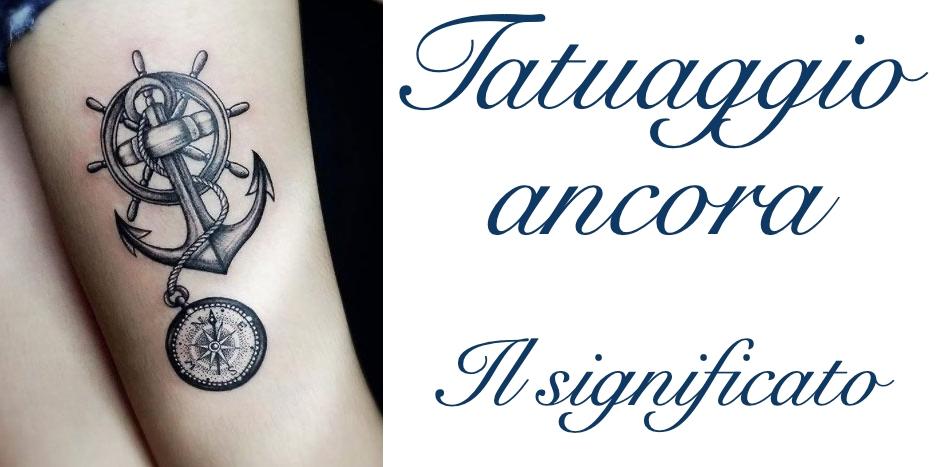 Tatuaggio Tattoo Ancora Significato