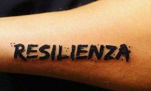 Tatuaggio Tattoo Resilienza scritta grassetto