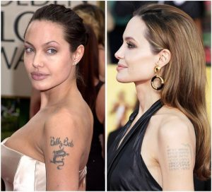 Tatuaggio tattoo Angelina Jolie cover up drago