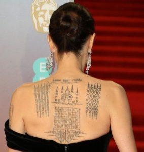 Tatuaggio tattoo Angelina Jolie schiena