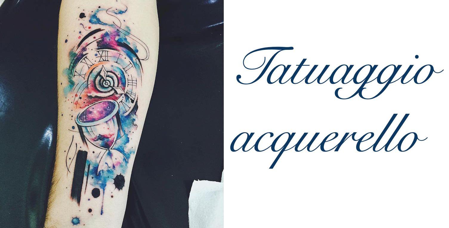 Tatuaggio tattoo acquerello significato