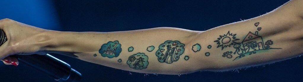 Tatuaggi Tattoo Alessandra Amoroso avambraccio destro