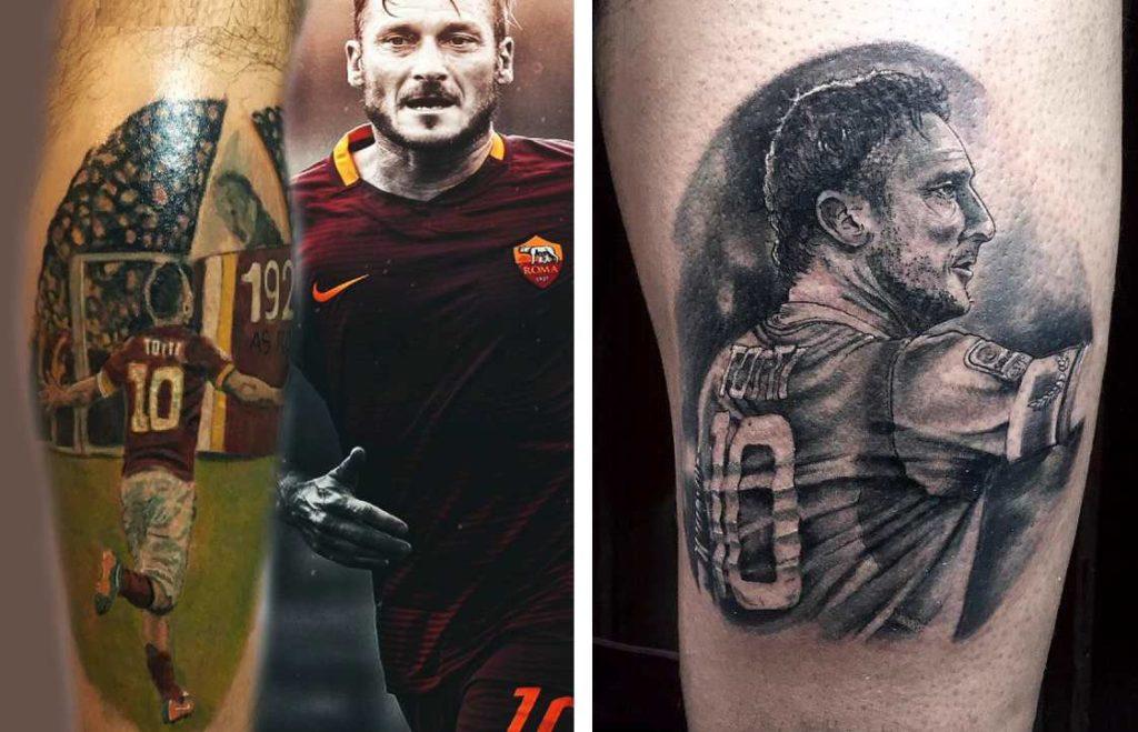 Tatuaggi Tattoo Francesco Totti fan coscia