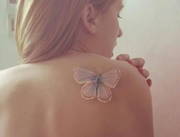 Tatuaggio Tattoo Bianco Farfalla