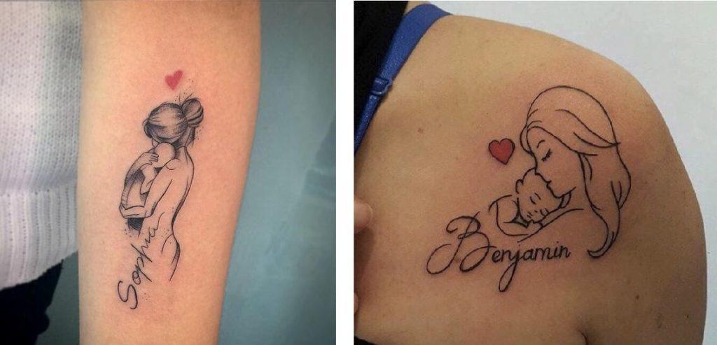 Tatuaggio Tattoo Bambini Stilizzati con nome
