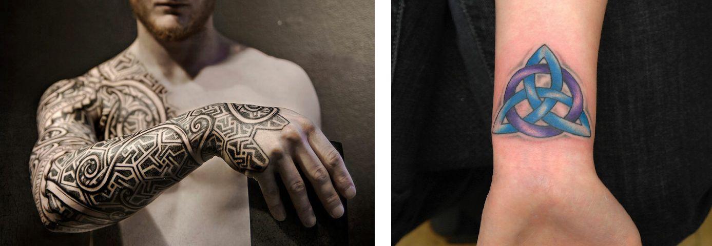 Tatuaggio Tattoo Celtico bianco nero e colorato