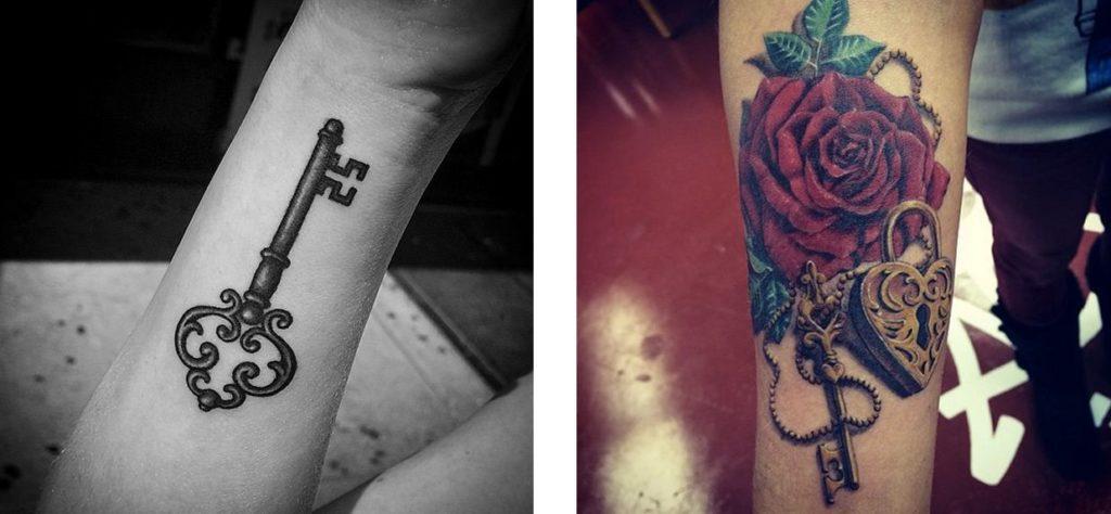 Tatuaggio Tattoo Chiave Bianco Nero e Colori