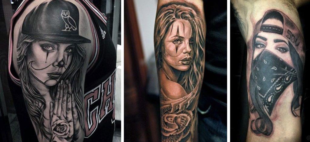 Tatuaggio Tattoo Chicano donne