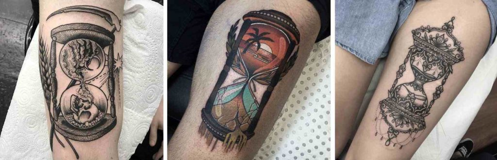 Tatuaggio Tattoo Clessidra disegni interni