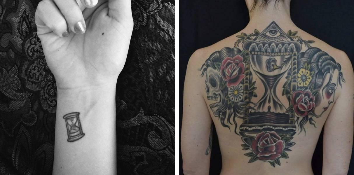 Tatuaggio Tattoo Clessidra piccolo e grande