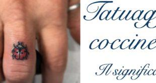 Tatuaggio Tattoo Coccinella Significato