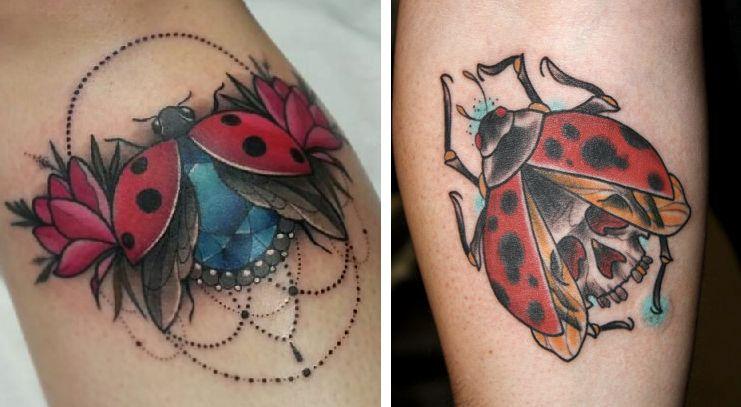 Tatuaggio Tattoo Coccinella aperta