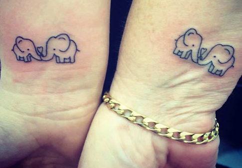 Tatuaggio Tattoo Elefante Legami