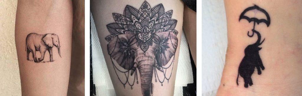Tatuaggio Tattoo Elefante realistico buddista e stilizzato