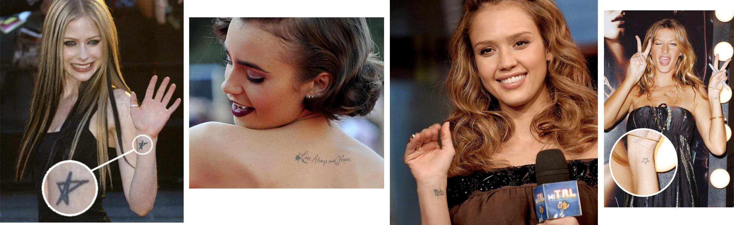 Tatuaggio Tattoo Elegante Femminile Star Vip