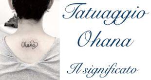 Tatuaggio Tattoo Ohana Significato