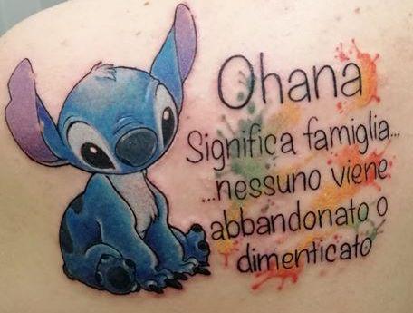 Tatuaggio Tattoo Ohana significa famiglia
