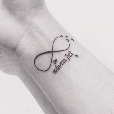 Tatuaggio Tattoo Panta Rei animali uccelli