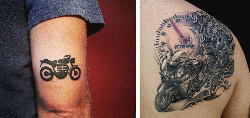 Tatuaggio Tattoo Motorino piccolo e grande