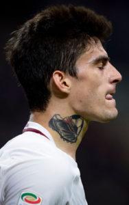 Tatuaggi Tattoo Diego Perotti cover up collo pallone scarpa dieci