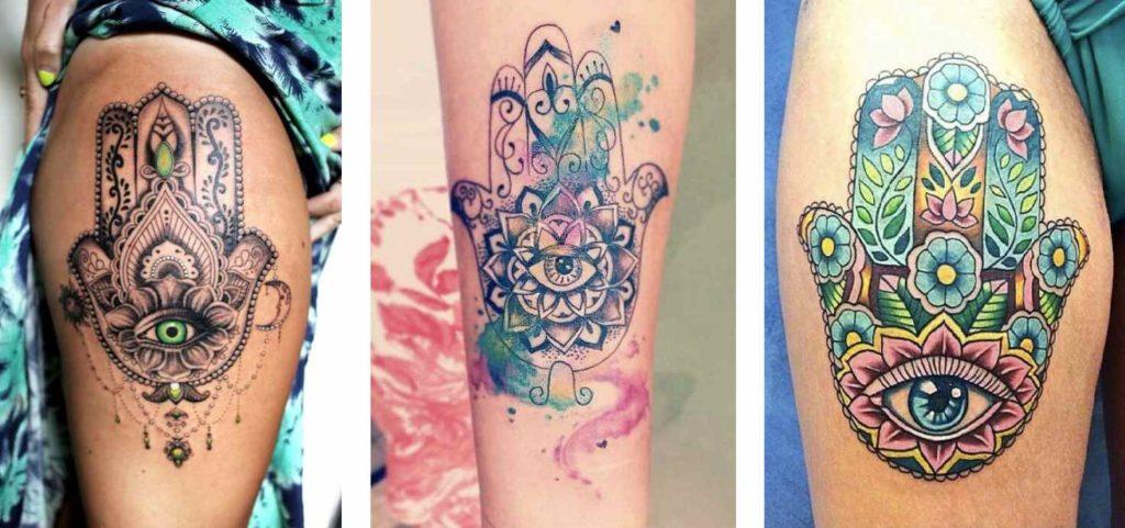 Tatuaggio Tattoo Mano di Fatima colorato
