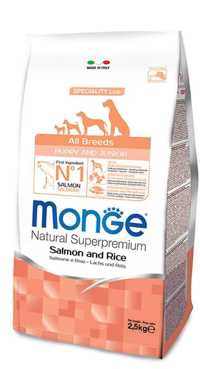 Monge All Breeds Puppy Salmone Riso