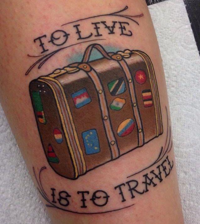 Tatuaggio Tattoo Viaggi Viaggiare Valigia