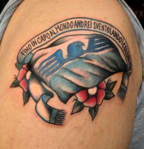 Tatuaggio Tattoo Lazio scritta