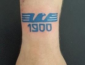 Tatuaggio Tattoo Lazio stemma polso