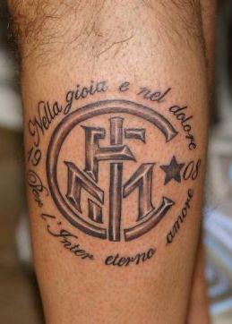 Tatuaggio Tattoo Inter Nella gioia e nel dolore
